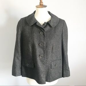LOFT Tweed Charcoal Mod Style Blazer